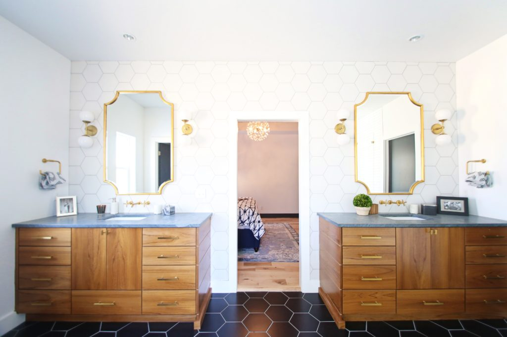 The Neely Fam Graphically Modern Master Bath Reveal Cbc